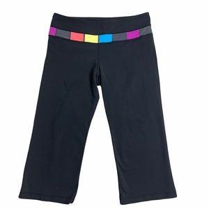 LULULEMON Groove Black/Color Pant Reversible Size8